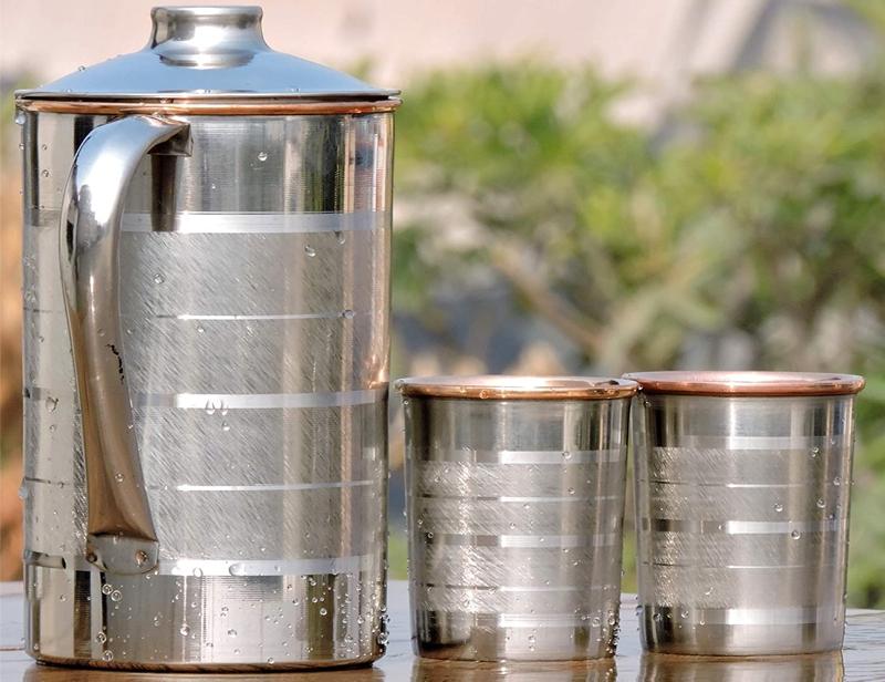 Steel Copper Fridge Bottle