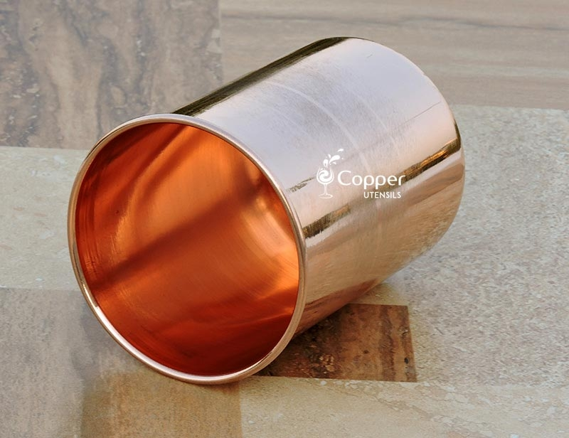 Pure Copper Water Glass Good Looking Portable Ayurveda