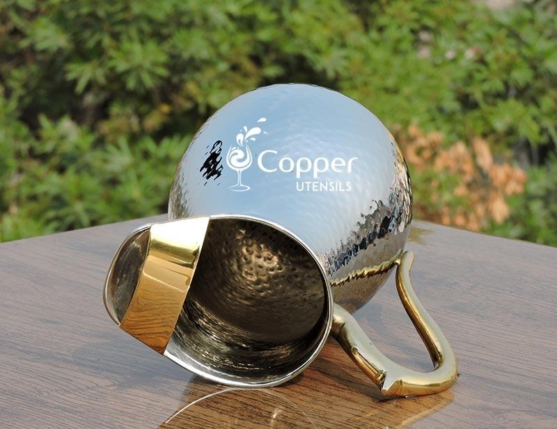 Copper Silver Mughlai Jug Copper Silver Mughlai Pitcher