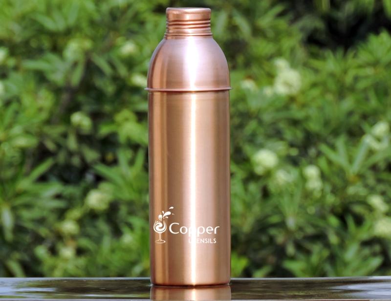 Copper Seamless Matte Finish Bisleri Bottle