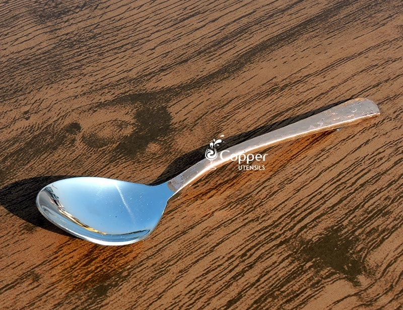 Copper and Steel Designer Spoon