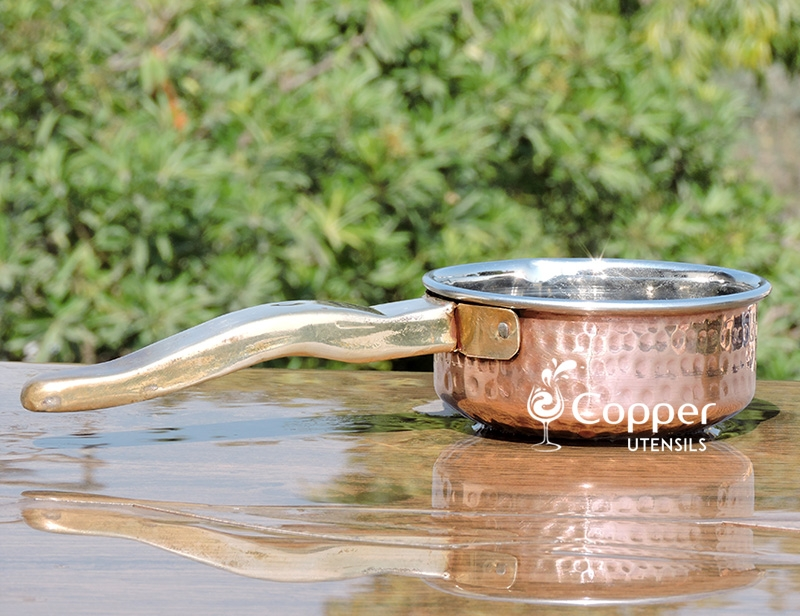Copper outer Frying Pan for Versatile Cooking