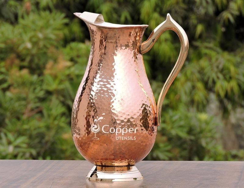 Mughlai Style  High Quality Handmade Copper Jug for Fine Dine in Royal Style