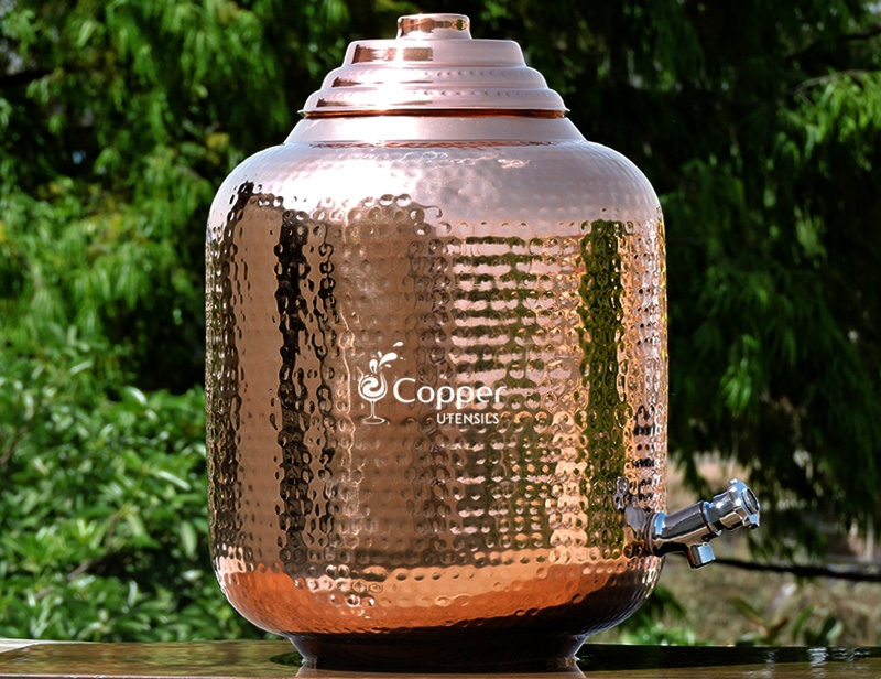 Pure Copper Fifteen Liters Water Dispenser With Stainless Steel Tap