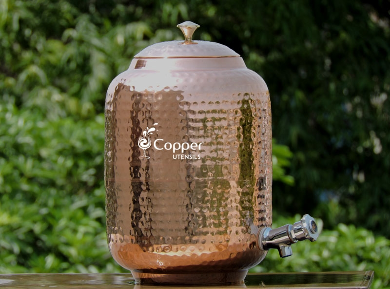 Pure copper seven liter water dispenser with stainless steel tap