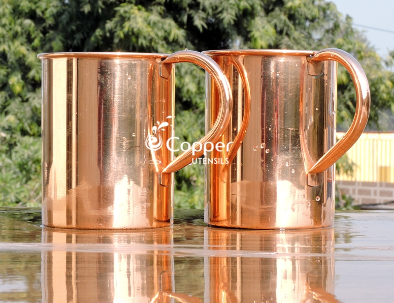Set Of Copper Mug For Serving Moscow Mule