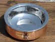 Copper and Stainless Steel Serving Bowl