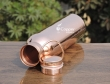 Pure Copper Plain Bottle with Handle 600 ML
