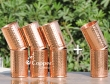 Set of Six Hammered Copper Glasses-Get 2 glasses FREE with this Set
