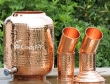 Eight Liter Copper Water Dispenser with Matching Tumblers