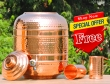 Handmade Pure Copper Water Dispenser with Stainless Steel Tap
