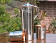 Intricately Designed Copper Fridge Bottle with 2 Copper Tumblers