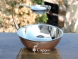 Copper Stainless Steel Snack Server with Attached Dip Bowl