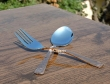 Set of Copper Plated Stainless Steel Spoon and Fork