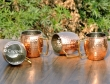 Set of Four Hand Hammered Copper Moscow Mule Mug