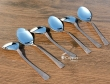 Set of Six Copper Plated Stainless Steel Spoons