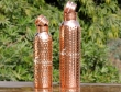 Set of Two Hammered Water Bottles for Carrying and Storing Drinking Water