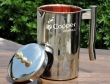 Copper and Stainless Steel Jug with Floral Design