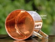 Handmade Plain Copper Mug with Brass Handles