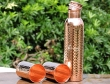 Pure Copper Hammered Bottle with Two Matching Tumblers