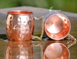 Set of Two Hand Hammered Copper Mini Mugs
