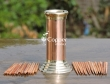 Copper and Brass Finish Toothpick Holder