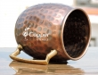 Hand Beaten Copper Moscow Mule Mug for Drinking