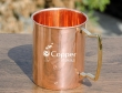 Handmade Plain Copper Mug with Brass handles