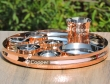 Traditional Copper Thali with Assorted Accessories