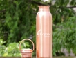 Copper Seamless Matte Finish Bottle with Carrying Handle