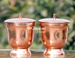 Copper Plated Stainless Steel Snack Container with Lid-Set of 2