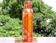 Pure Copper Designer Print Water Bottle-Red