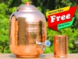 Pure Copper Four and Half Liter Water Dispenser- FREE One Copper Tumbler