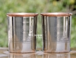 Set Of Two Copper and Stainless Steel Tumbler