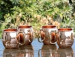 Set of Four Pure Copper Moscow Mule Plain Mugs