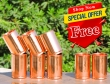 Set of Six Copper Glasses-Get 2 Glasses FREE with this Set