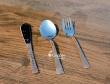 Set of Stainless Steel Copper Plated Spoon Fork and Knife