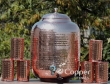 Twelve Liter Pure Copper Water Dispenser with Six Tumblers
