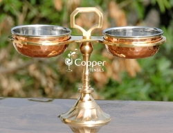 Brass and copper pickle Stand for D