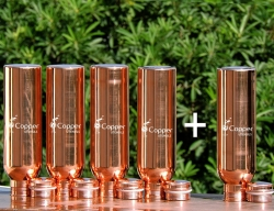 Buy 4 Pure Copper Water Bottle for Kids-Get FREE 1 Copper Water B