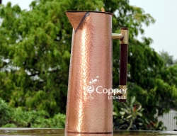 Copper Designer Jug for Storing and Drinking Tamara Jal