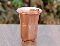 Copper Glass With Flattened Op