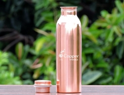 Especially Designed Handmade Indian Copper Water Bottle with Leak