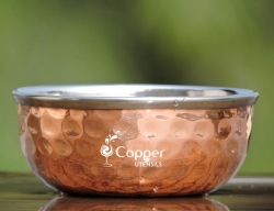 High Quality Copper Bowl with Steel Inner For Serving at Restaura