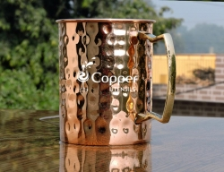 Hand crafted Copper Hammered Mug