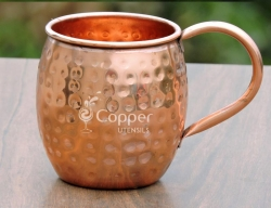 Handmade Hammered Pure Copper Mug