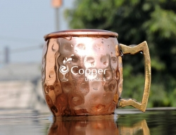 Handmade Pure Solid Copper Vodka Hammered Mug
