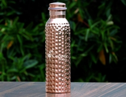 Leak Proof Hammered Pure Copper Bottle 600 ML for kids