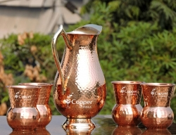 Mughlai Style Copper Jug with