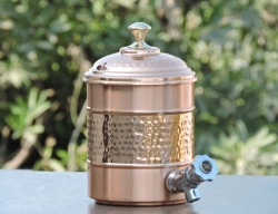Pure Copper 2Liter Water Dispenser with Stand